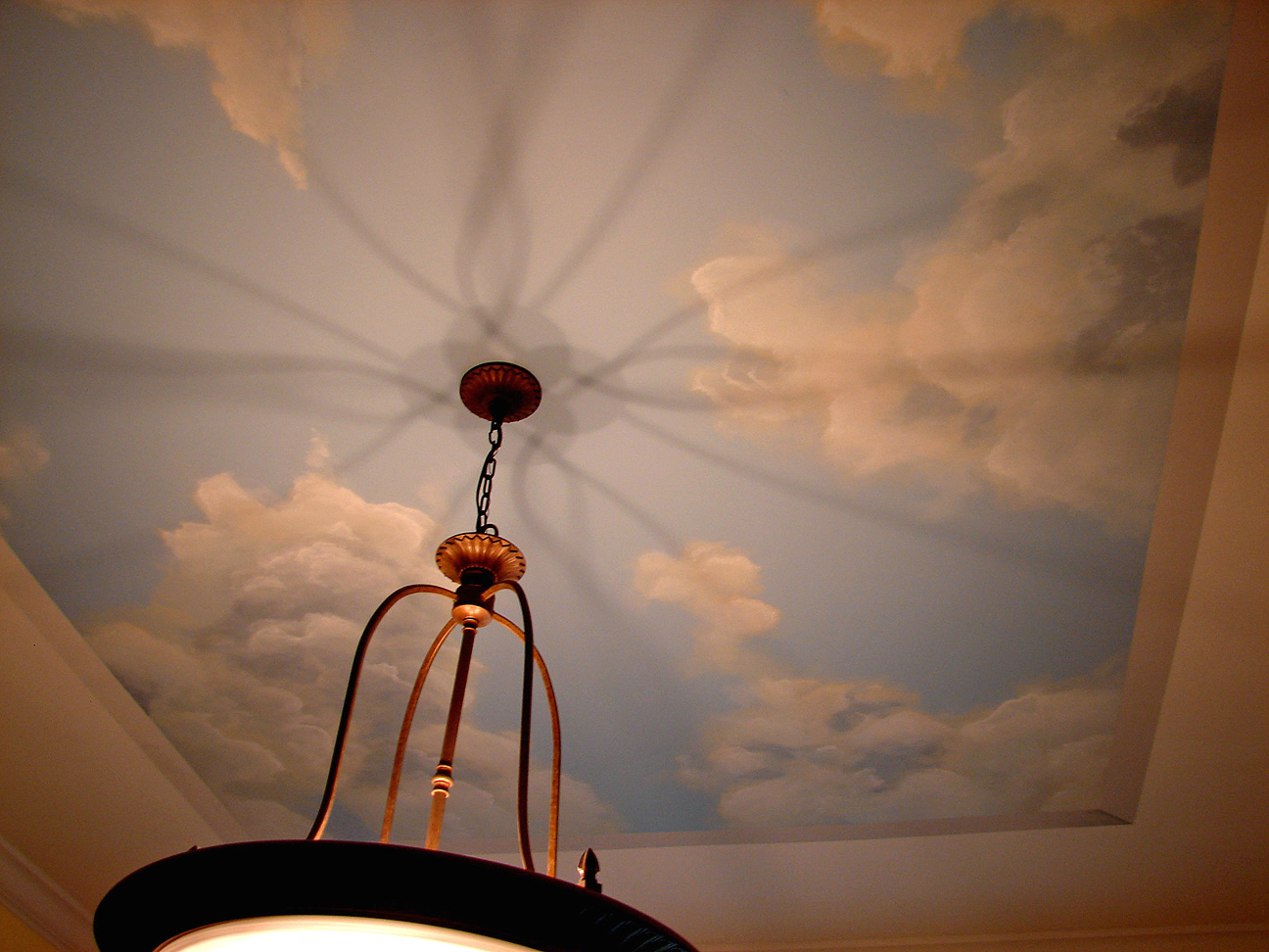 Faux painting gallery 1 for Cloud mural ceiling