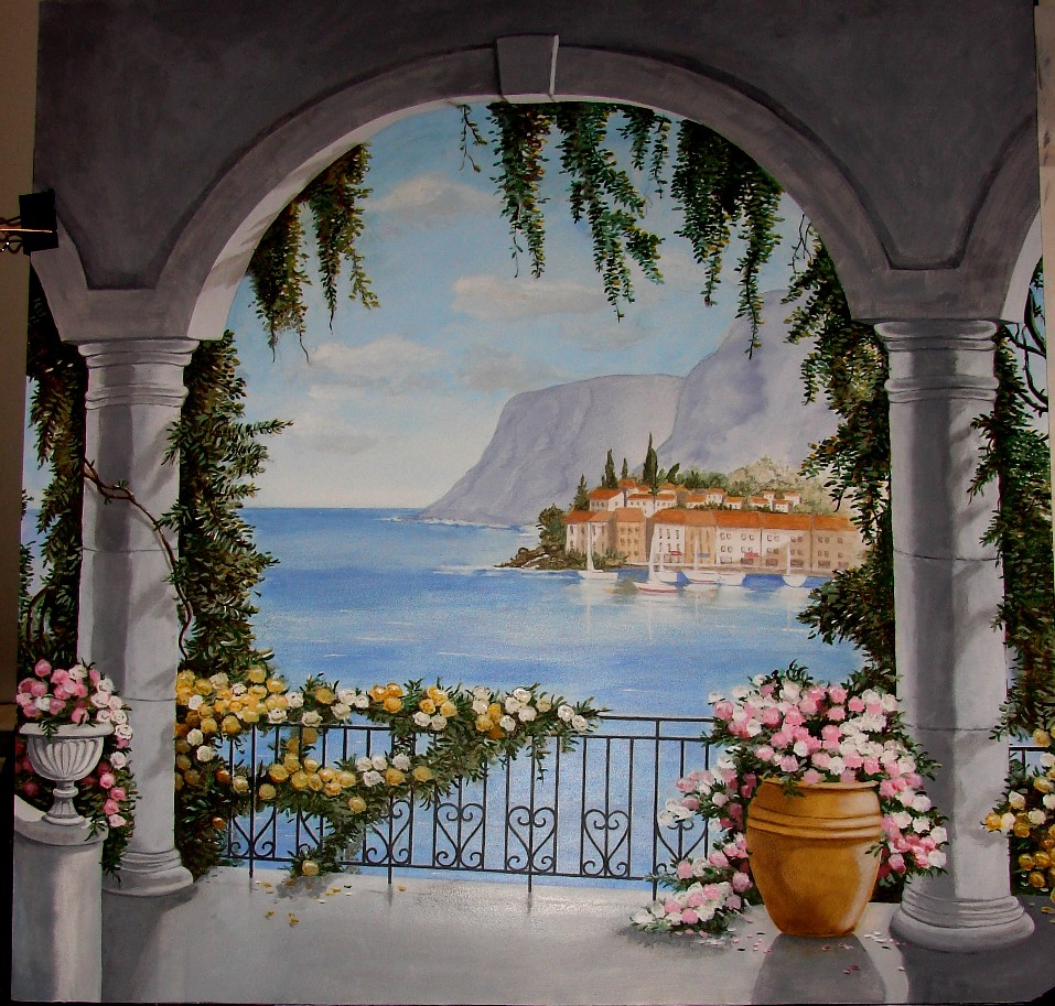 Trompe loeil murals for sale